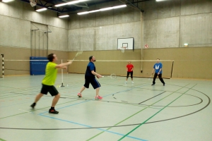 Badminton in Aktion